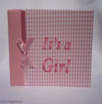 Lány baba fotóalbum (vízszintes)