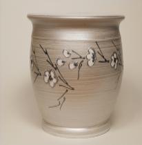 Ezüst barackvirág kaspó