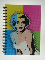Pop Art Marilyn Monroe spirálfüzet