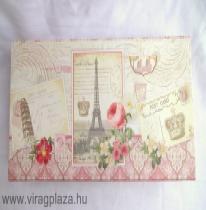 Virágos Párizsos ékszertartódoboz